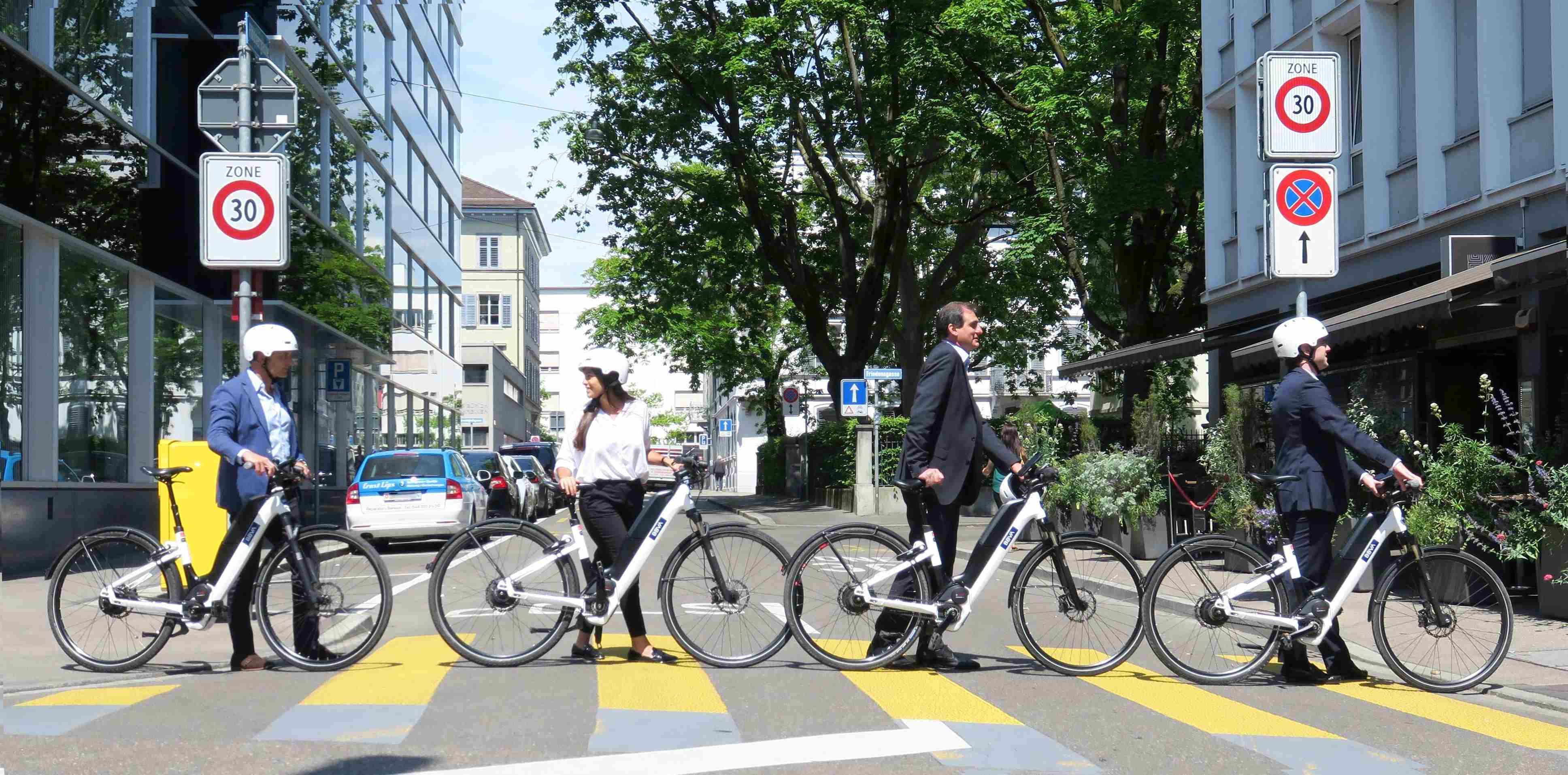 E-Bikes corporativas, la nueva iniciativa sostenible de BBVA en Suiza.